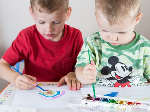 Paint to Music - Toddler Music Activities - www.momshavequestionstoo.com