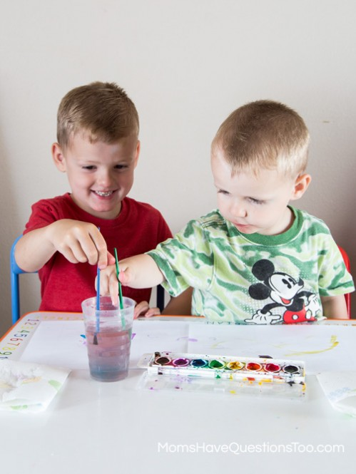 Painting - Toddler Music Activities - www.momshavequestionstoo.com