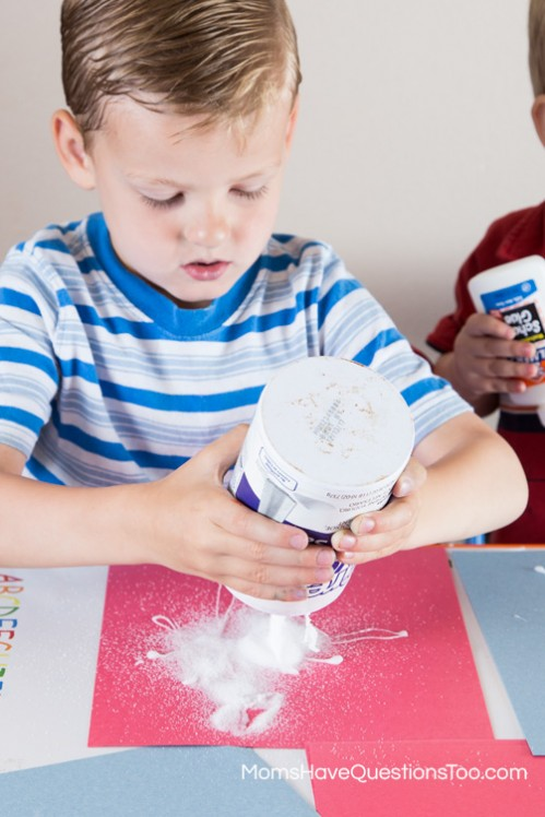 Salt and Glue Fireworks Craft - 5 Crafts for the 4th of July www.momshavequestionstoo.com