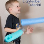 Homemade Lightsabers for Gross Motor Development