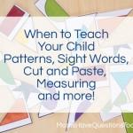 When to Teach What Part 2