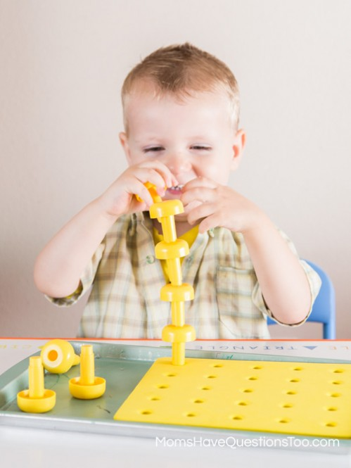 Yellow Peg Board - Moms Have Questions Too