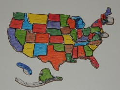 DIY United States Map Puzzle