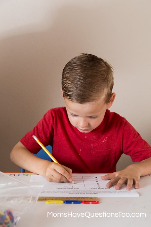 Measure items with a ruler and record the lengths - Moms Have Questions Too