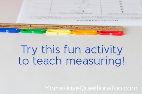Teach your preschooler about measuring with a ruler using this fun activity! - Moms Have Questions Too
