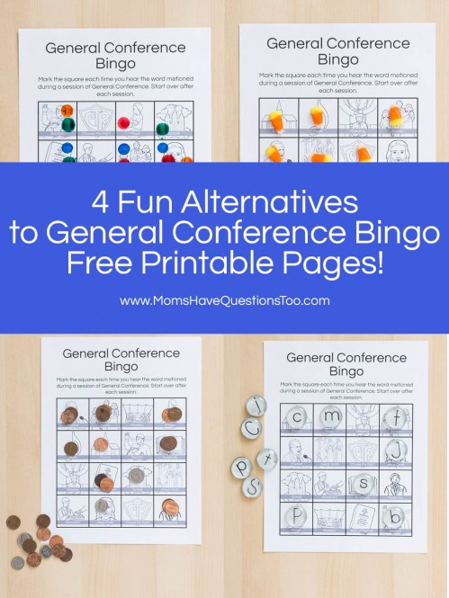 4 Fun Ways to Play General Conference Bingo - Moms Have Questions Too