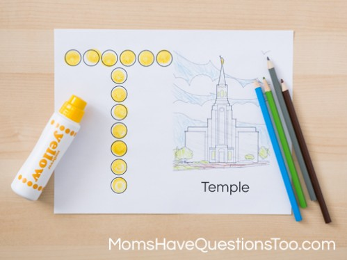 Fun Do a Dot Marker activity for preschoolers during General Conference - Moms Have Questions Too