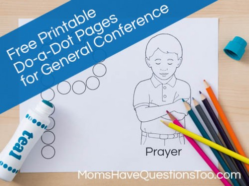 Do a Dot Pages for General Conference