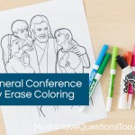 General Conference Dry Erase Marker Coloring