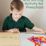 Measuring Ribbons Preschool Activity