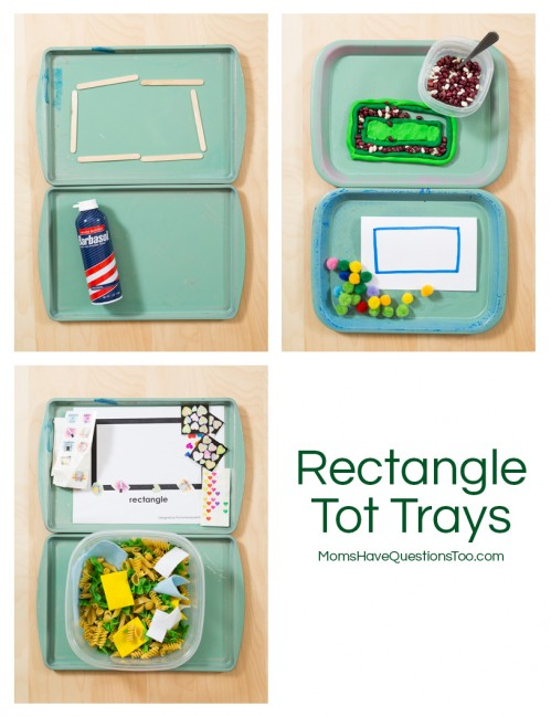 Rectangle Tot Trays - Moms Have Questions Too