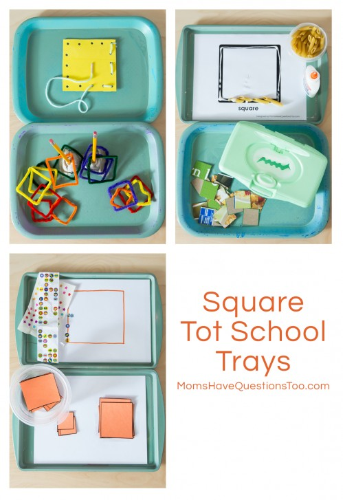 Square Tot School Trays Ideas - Moms Have Questions Too