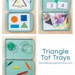 Triangle Tot School Trays