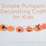Easy Pumpkin Decorating Craft