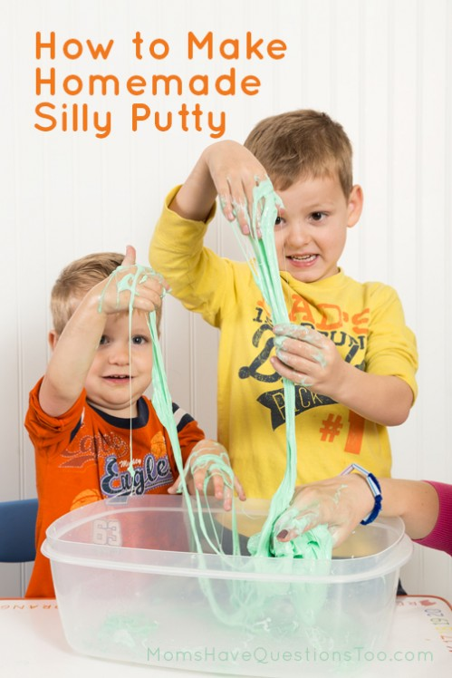 How to Make Homemade Silly Putty - Moms Have Questions Too