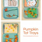 Pumpkin Themed Tot Trays