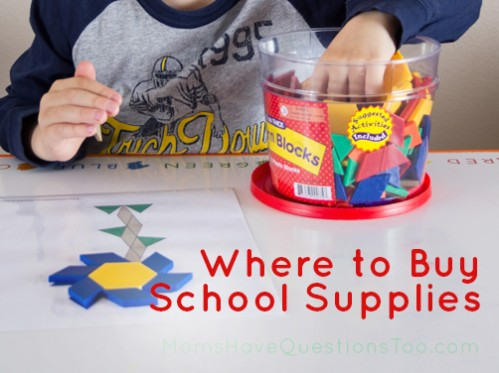 Where to Buy School Supplies - Moms Have Questions Too