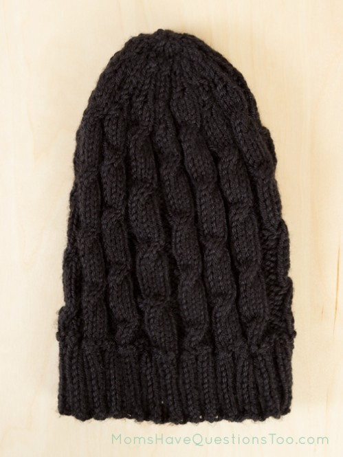 Cabled Hat Free Knitting Pattern - Moms Have Questions Too