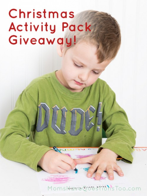Enter to win a Christmas Activity Pack from Moms Have Questions Too