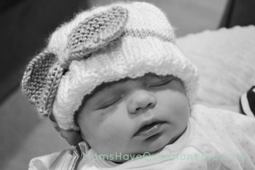 Free Knitting Pattern Bow Hat - Moms Have Questions Too