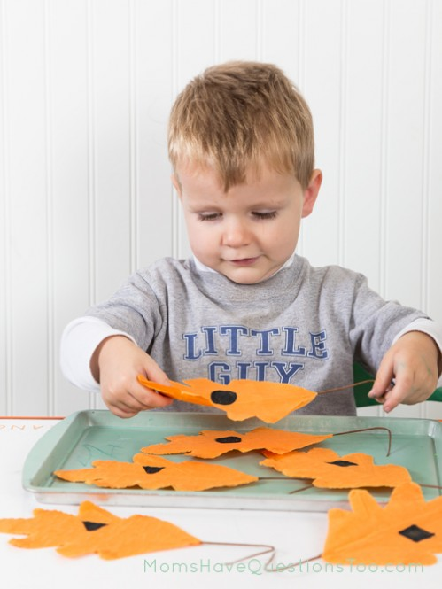 Shape matching for Fall Tot Trays - Moms Have Questions Too