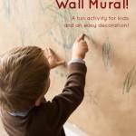 Christmas Craft Wall Mural for Kids