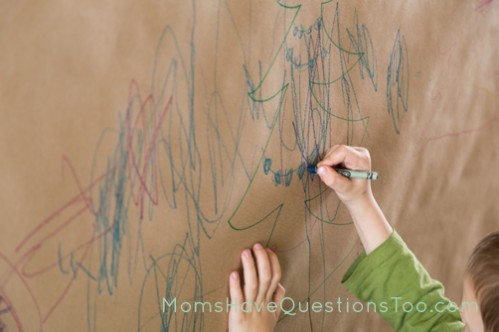 Make Large Wall Murals as Christmas Decorations and a fun Activity - Moms Have Questions Too