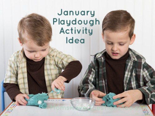 January Play dough Activity Idea - Moms Have Questions Too