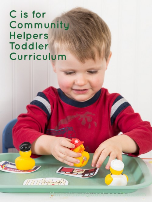Homeschool Curriculum for Toddlers Letter C for Community Helpers - Moms Have Questions Too