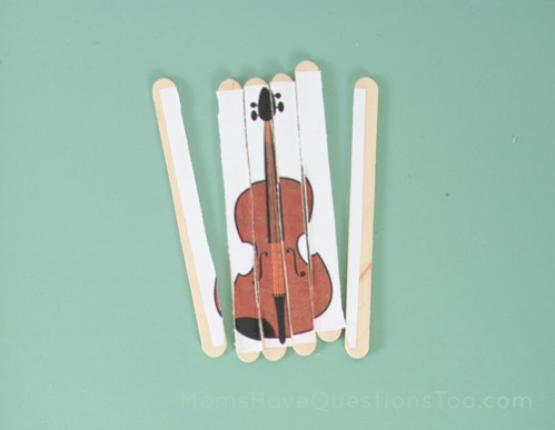 Popsicle Stick Puzzle Music Theme for Toddlers - Moms Have Questions Too