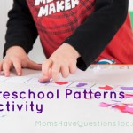 Seasonal Sticker Pattern Activity for Preschoolers