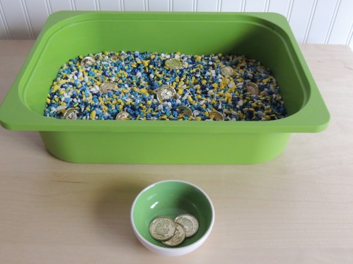 Treasure Hunt Sensory Bin