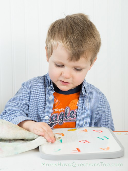 Erase the letter F activity - Moms Have Questions Too