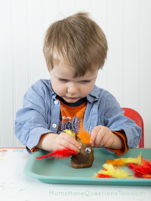 Make a chicken with play dough - Moms Have Questions Too