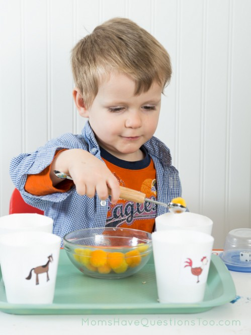 Scooping Activity - Moms Have Questions Too