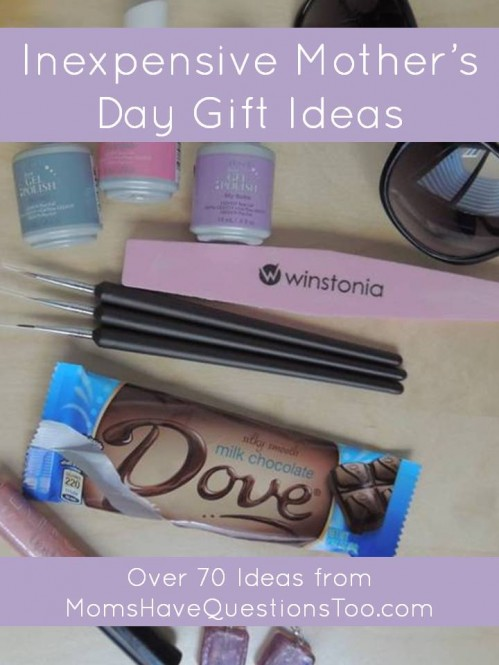 over 70 inexpensive mothers day gift ideas