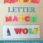 Magnetic Letter Match Alphabet Printables