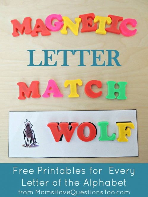 use magnetic letters with these magnetic letter match printables