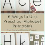 Thin Letter Preschool Alphabet Printables