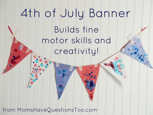 This easy kids craft is perfect for the 4th of July, plus it builds fine motor skills and creativity!