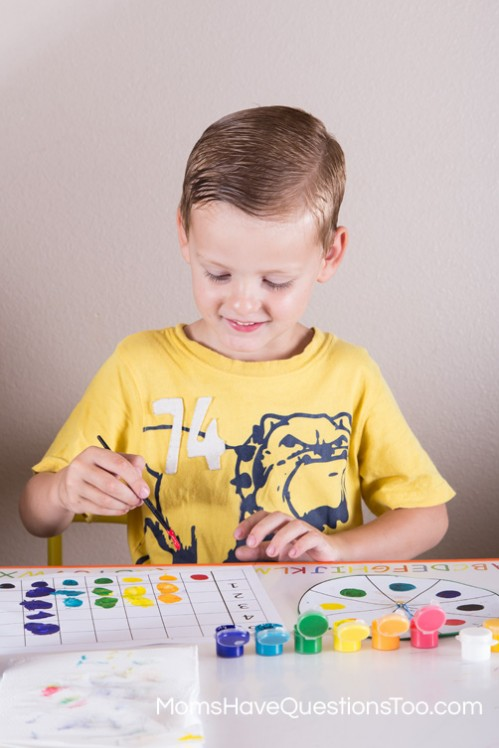 Practice Colors and Graphing with this Fun Preschool Activity - Moms Have Questions Too