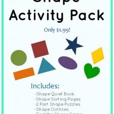 Shape Activity Pack