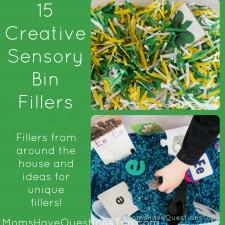 15 Creative Ideas for Sensory Bin Fillers