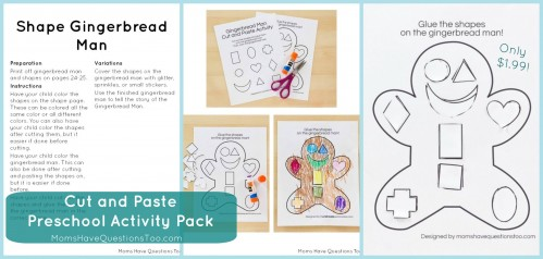 cut and paste preschool activity pack. Black Bedroom Furniture Sets. Home Design Ideas