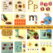15 Toddler Activities for Using Table Scatter