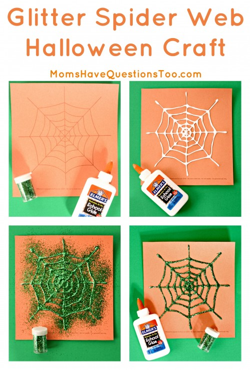 Two spider web Halloween crafts that are so easy with my printable template!