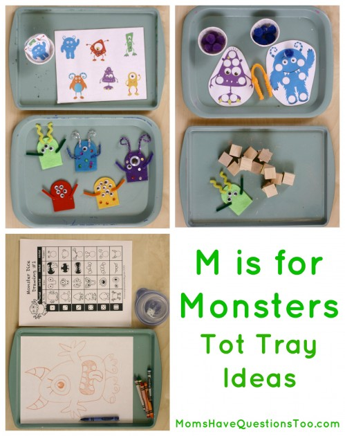 Learn about the letter M with this fun monster unit. Printables, tot tray ideas, crafts, and more!