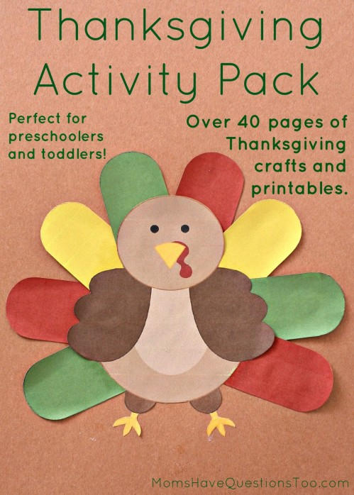 Thanksgiving Activity Pack With Over 40 Pages Of Crafts And Printables For Toddlers Preschoolers