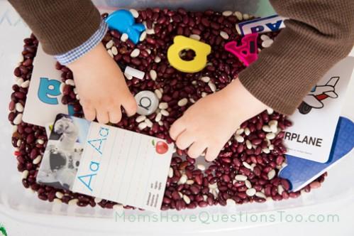 Fun ABC Sensory Bin Ideas -  - Moms Have Questions Too
