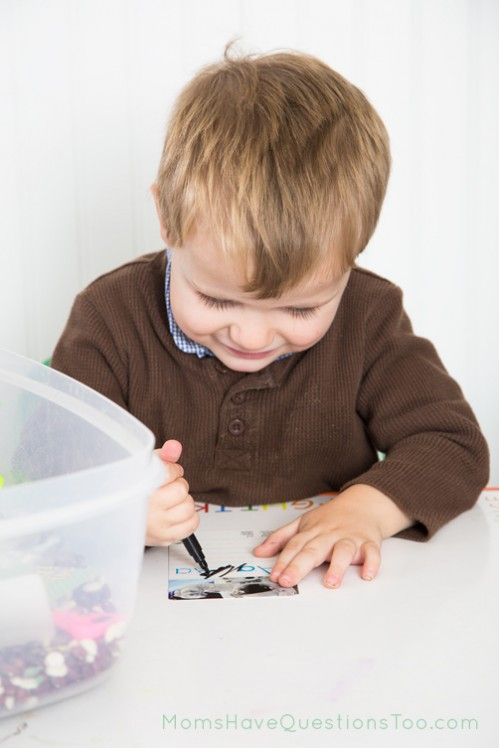 Games in an ABC Sensory Bin - Moms Have Questions Too